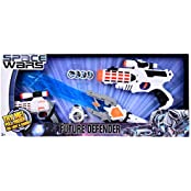 SPACE WARS SERIES: PLANET OF TOYS SPACE WEAPON SET 1 GUN (28CMS), 1 GUN (19CMS), 1 LASER SWORD (60CMS), DART BLASTER...
