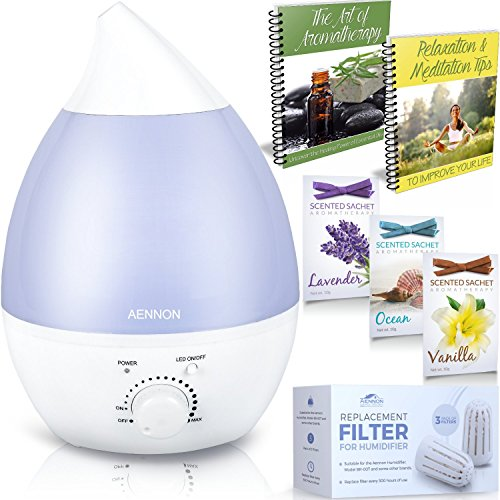 Premium Cool Mist Ultrasonic Humidifier w/ Aroma Essential