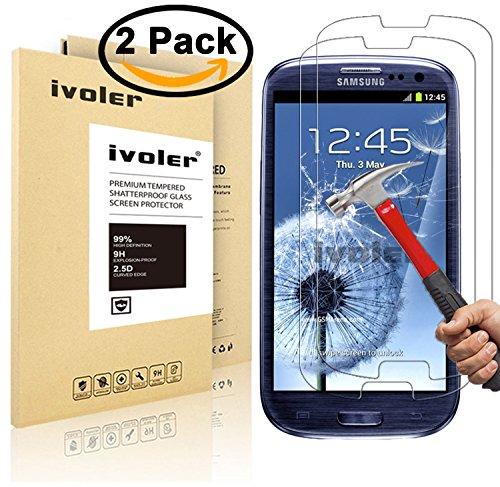 [2-Pack] Pellicola Vetro Temperato Samsung Galaxy S3 / S3 Neo, iVoler® ** [Protezione Antigraffi] **Anti-riflesso Ultra-Clear** Ultra resistente in Pellicola Samsung Galaxy S3 / S3 Neo, Pellicola Protettiva Protezione Protettore Glass Screen Protector per Samsung Galaxy S3 / S3 Neo.Vetro con Durezza 9H, Spessore di 0,3 mm,Bordi Arrotondati da 2,5D - Garanzia a Vita