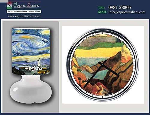 Lampada e Orologio in acciaio Vincent Van Gogh (2° versione)