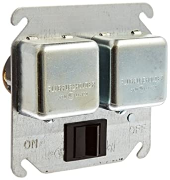 mersen cty 4 quot square box cover for 2 edison base fuse