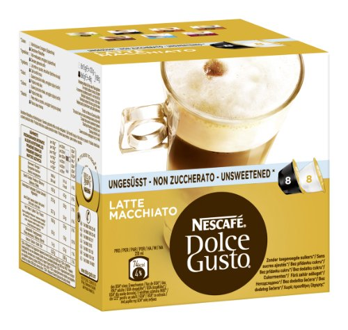 Nescafé Dolce Gusto Latte Macchiato Unsweetened, Pack Of 3, 3 X 16 Capsules (24 Servings) front-414610