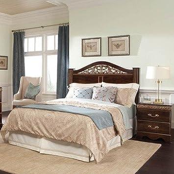 Standard Furniture Odessa 2 Piece Headboard Bedroom Set in Cherry Brown