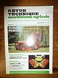 RTMA0086 REVUE TECHNIQUE MACHINISME TRACTEUR AGRICOLE KUBOTA B HST HDS B1550 B1750 B2