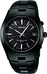 SEIKO spirit radio solar titanium black SBTM135 men's watch