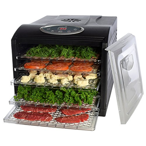 Electric Food Dehydrator, with 6 Drying Racks, Digital Temperature Controls and Timer with Automatic Shutoff, Even Dry From 95º F to 158º F (Food Dryer Dehydrator compare prices)