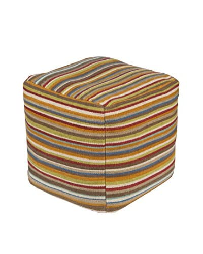 Surya Calvin Pouf, Multi-Color