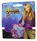 Disney Hannah Montana Ponytail Holder - Purple Flower Shaped w/ Butterfly