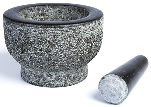 Granite Mortar and Pestle by HiCoup - Unpolished Mortar and Pestle (Pedestal Mortar compare prices)