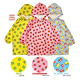 LW Funny Animal 3D Kids Raincoat,Pink Strawberry Size L