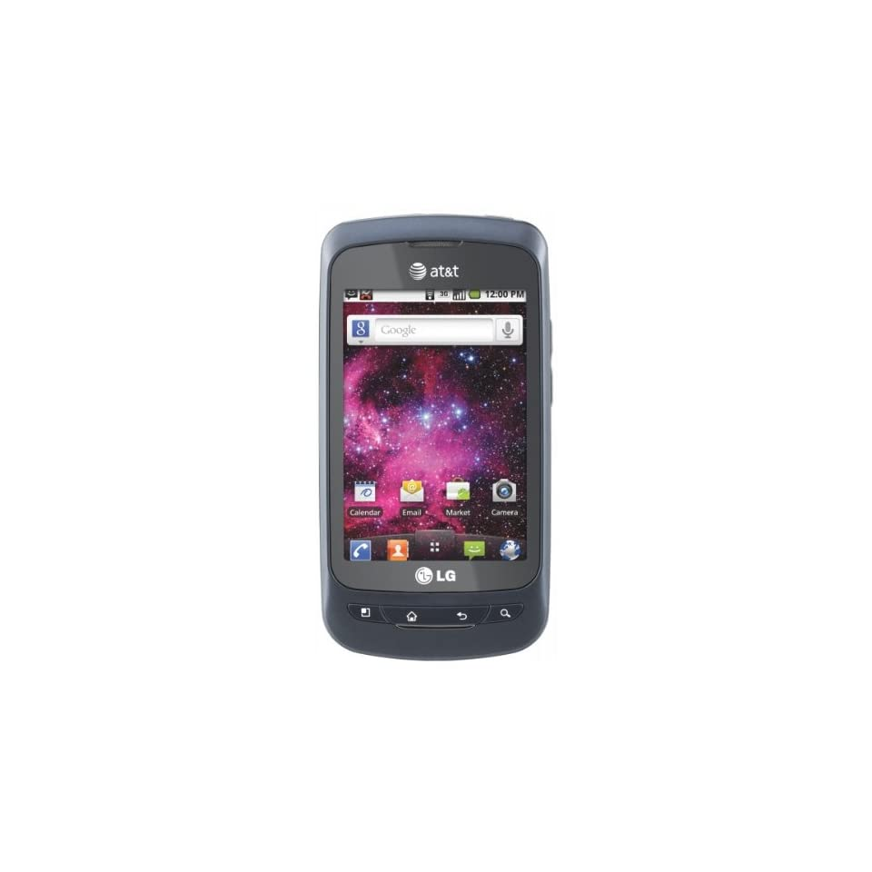LG Thrive P506 Unlocked GSM Phone with Android 2.2 OS, TouchScreen AND 3.2M Camera   Black