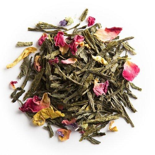 Rose Green Tea - Loose Green Tea Blend From 100% Nature (2 Oz)