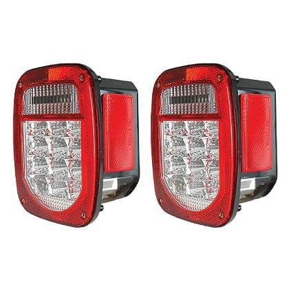00-06 Chevy Suburban Tahoe Yukon Xl Led Tail Light Signal Lamp 2Pc Chrome Clear