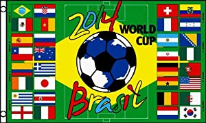 2014 WORLD CUP Soccer Groups FLAG, 3'x5' banner