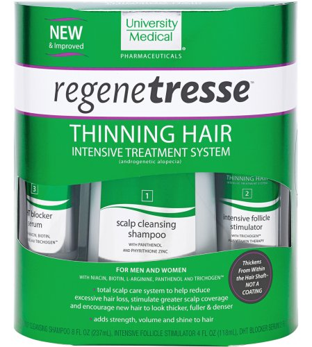 Regentresse Thinning Hair Treatment System, 3 Step Kit, 14-Ounce Box