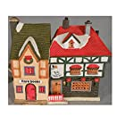 Lemax Dickensvale Collectables Rare Books & Bob's Tabacco Lighted Porcelain House (1994)