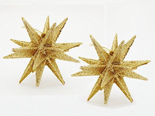 【2個セット!クリスマスオーナメント♪ベツレヘムの星(直径約10cm)ゴールド】クリスマス/ツリー/スター/星/アレンジ/クリスマスの星