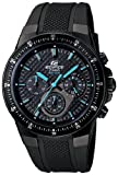 Casio Mens EF552PB-1A2V Black Resin Quartz Watch with Black Dial