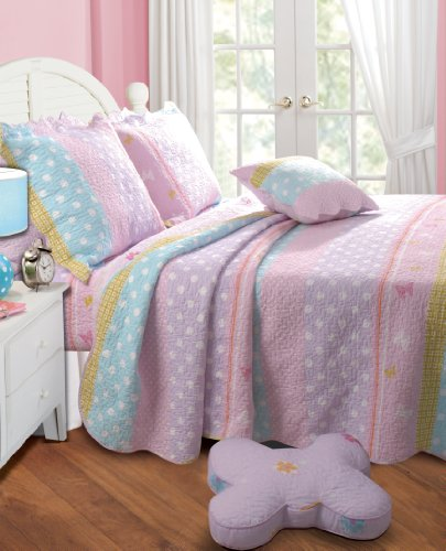 Find Discount Greenland Home Polka Dot Stripe Quilt Set, Full/Queen