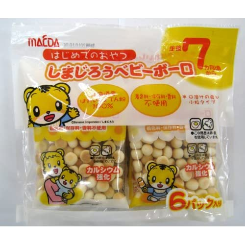 大阪前田製菓 6Pしまじろうベビーボーロ (16g×6P)×10袋