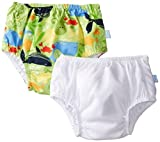 i play. Unisex Baby Classics Ultimate Snap Swim Diaper 2 Pack Sealife 6 12 Months, White/Lime, Medium Size: Medium Color: White/Lime, Model: 721170, Newborn & Baby Supply