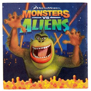 Monsters vs Aliens Lunch Napkins 16ct