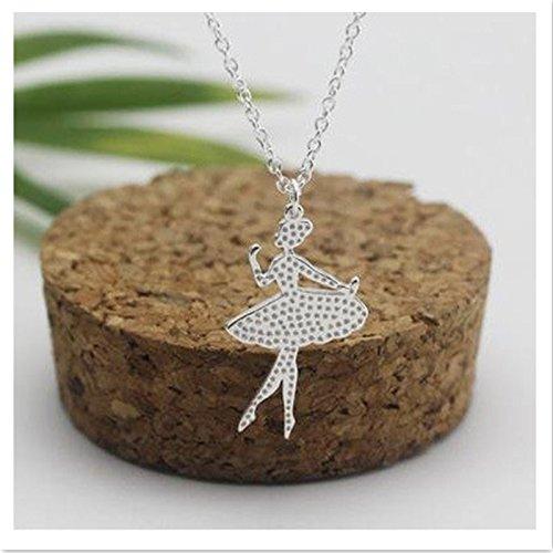 EQLEF® Ballerine Deaign fascino della collana ragazze di Dancing del pendente elegante per le donne