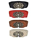 Womens Fashion Vintage Wide Elastic Stretch Waist Belt Waistband