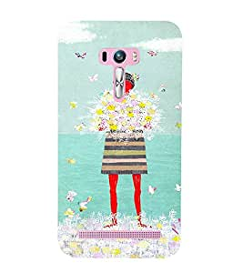 EPICCASE Lady with flowers Mobile Back Case Cover For Asus Zenfone Selfie (Designer Case)