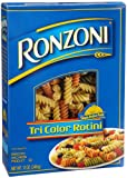 Ronzoni Tri-Color Rotini, 12-Ounce Boxes (Pack of 5)
