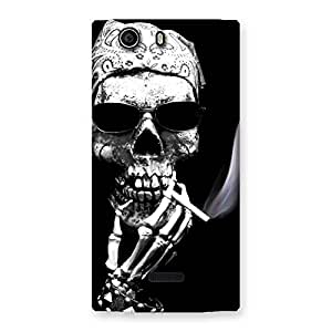 Smoking Skull Back Case Cover for Canvas Nitro 2 E311