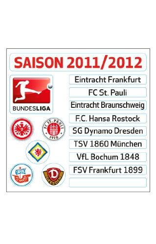 DFL Updateset 2. Bundesliga, 14,5 cm x 22cm, FD-DFL-UPTR-2-11