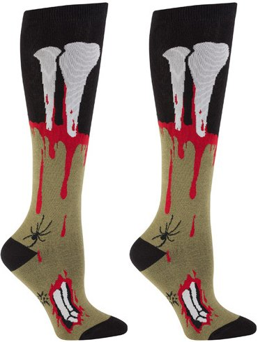 Dead Zombie Knee High Socks