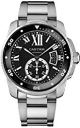 Cartier Calibre de Cartier Diver Black Dial Steel Mens Watch W7100057