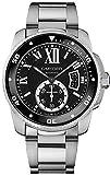 Cartier Calibre de Cartier Diver Black Dial Steel Mens Watch