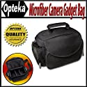 Opteka Microfiber Deluxe Photo/Video Camera Gadget Bag for Canon, Nikon, Sony, Olympus, Kodak, Panasonic, and Fuji Digital Cameras