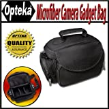 Opteka Microfiber Deluxe Photo Video Camera Gadget Bag for Canon - Nikon - Sony - Olympus & Panasonic Digital SLR Cameras & Camcorders