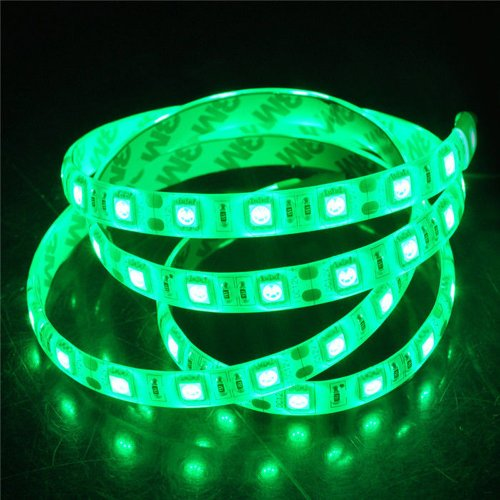 Happy Hours® Bright Green Non-Waterproof Led Flexible 120 Led/M Light Tape Holiday Christmas Led Tv Wall Kitchen Backlighting Birthday Party Led Garden Home Indoor Outdoor Decoration Pack Of 2 M + 12V Dc
