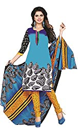 Dipak Women's Cotton Unstitched Dress Material (4006_Multi-color)