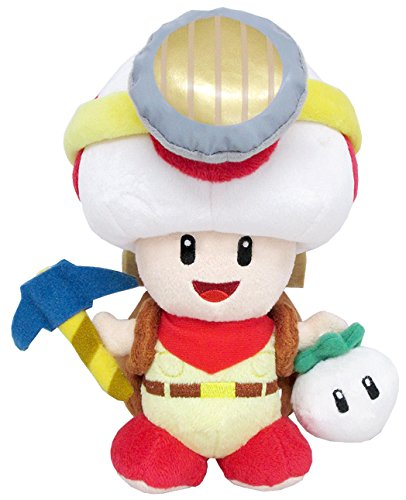 Sanei Super Mario Series Standing Pose Captain Toad Plush Toy, 7.5""