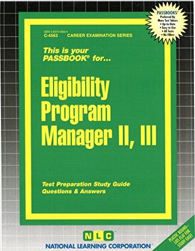 Eligibility Program Manager II, III (Passbooks) PDF
