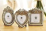 Amazon.co.jpアンティーク風 フォト フレーム 3個 セット 結婚式 出産 七五三 お祝い プレゼント に (シルバー)