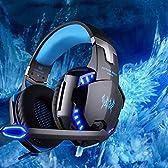 ヘッドセット ヘッドホン VersionTech EACH G2200 USB7.1 振動機能 ステレオ 高音質 ゲーミング ゲーミング ヘッドセット ヘッドフォン ヘッドホンマイクLEDライト音量調節PC/Laptopゲーム用 WIN7/WIN8/WIN81/XP対応