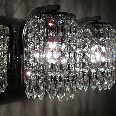 120W Light Wall moderne avec pendeloques de cristal et 2 lumiššres en chrome poli