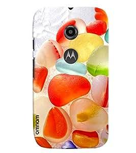Omnam Fruit Jelly Colorful Printed Designer Back Cover Case For Moto E2