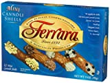 Ferrara Mini Cannoli Shells, 12-Count, 3 Ounce Boxes (Pack of 12)