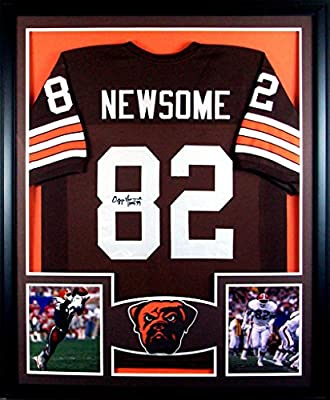 Ozzie Newsome Framed Jersey Signed JSA COA Autographed Cleveland Browns