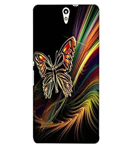 ColourCraft Butterfly Design Back Case Cover for SONY XPERIA C5 ULTRA