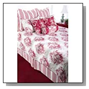 Roselyn Bedding Set in Red / White