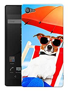 "Humor Gang Dog Beach Life Printed Designer Mobile Back Cover For ""Sony Xperia Z5 Mini - Compact"" (3D, Matte, Premium Quality Snap On Case)"